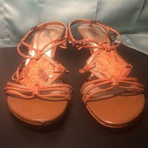 Brown Strappy Women's High Heel Sandals